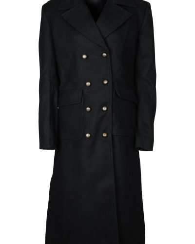 WOMEN BLACK COTTON COAT