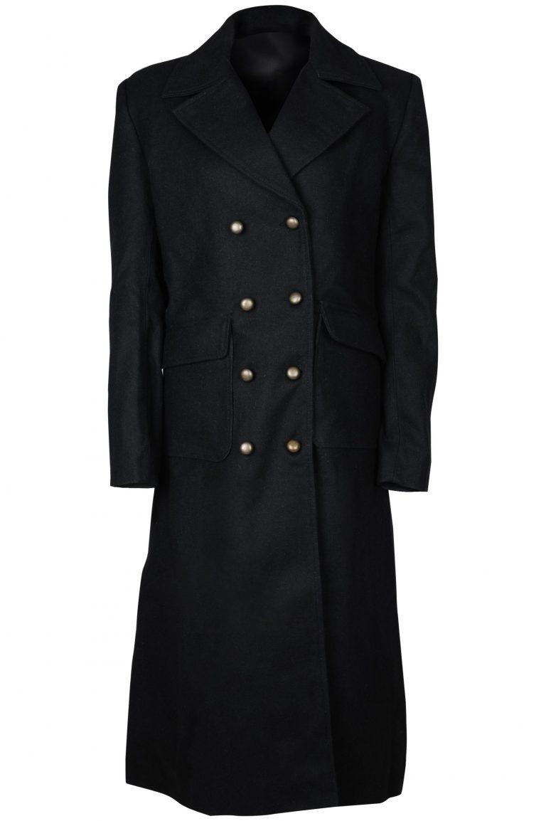WOMEN BLACK COTTON COAT