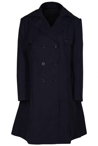 WOMEN BLACKISH Cotton coat