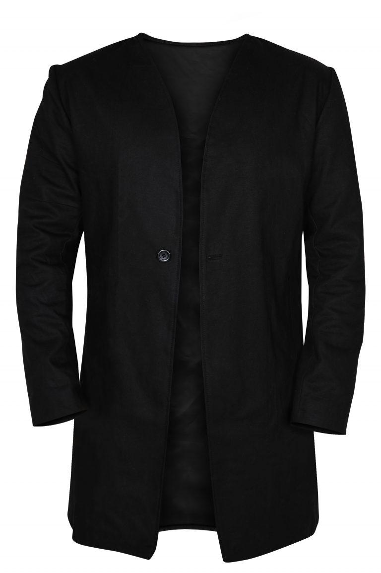 Black Single Button Coat