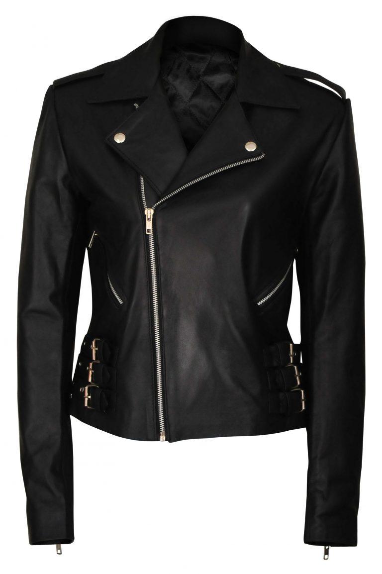 Women Leather Jacket black