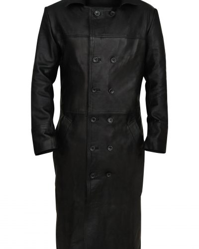 Mens Wool Trench Button Coat