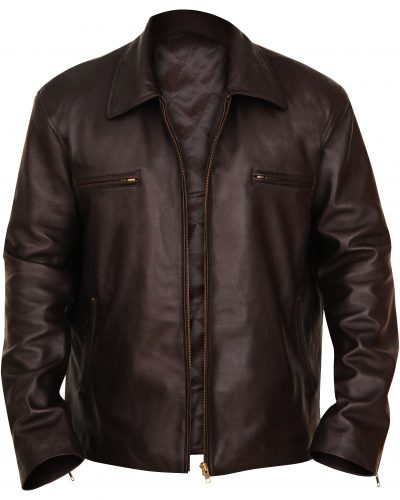 Buy Stylish Brown Leather Jacket