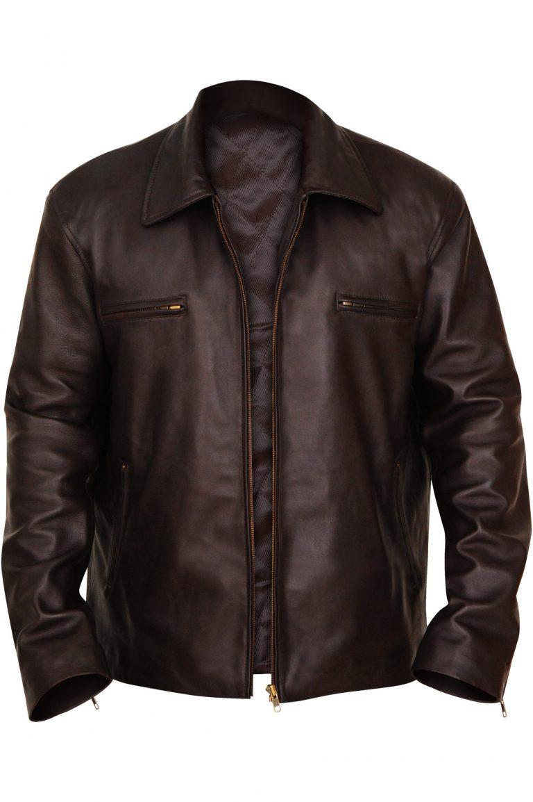 Buy Stylish Brown Leather Jacket