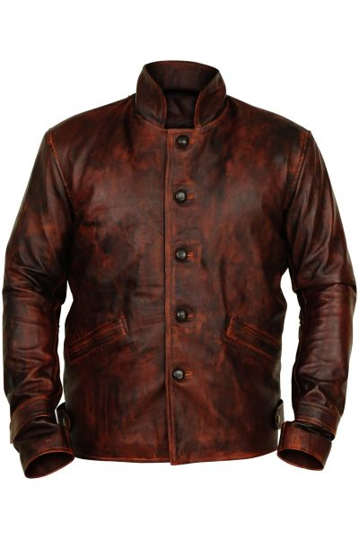 GENUINE Brown Leather Jacket