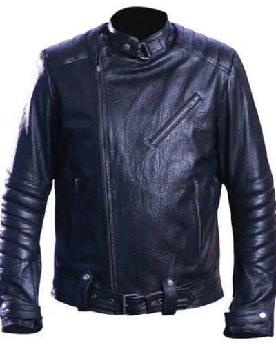 black leather jacket mens outfit