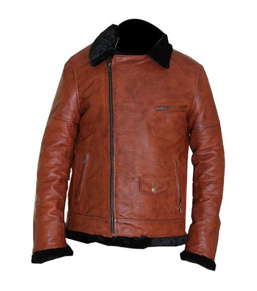 Bomber Sheepskin Leather Jacket