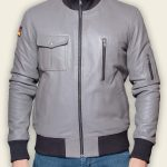 Grey Luftwaffe Leather Jacket
