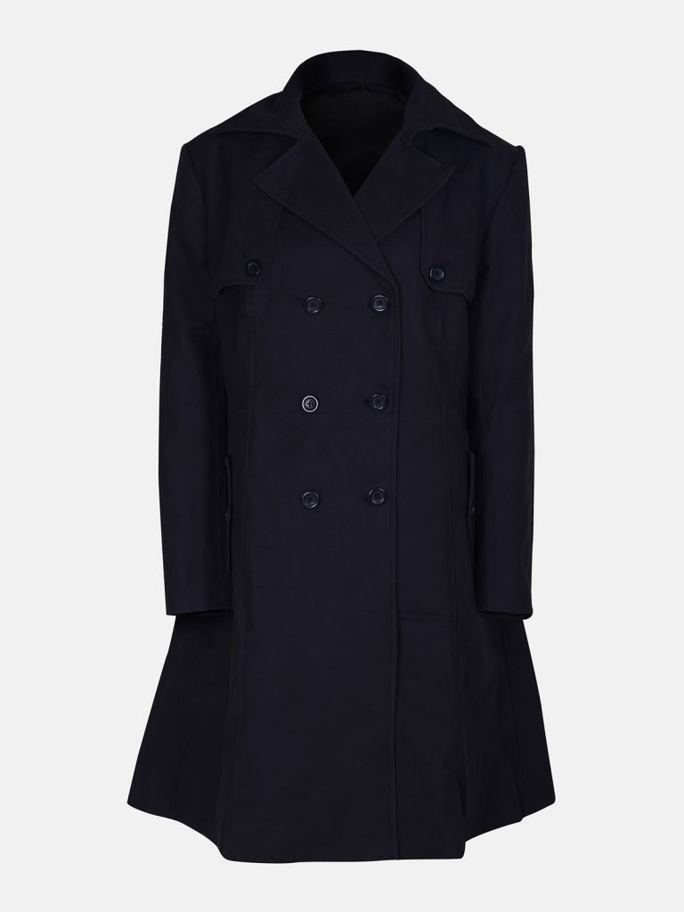Men Jet Black Wool Coat