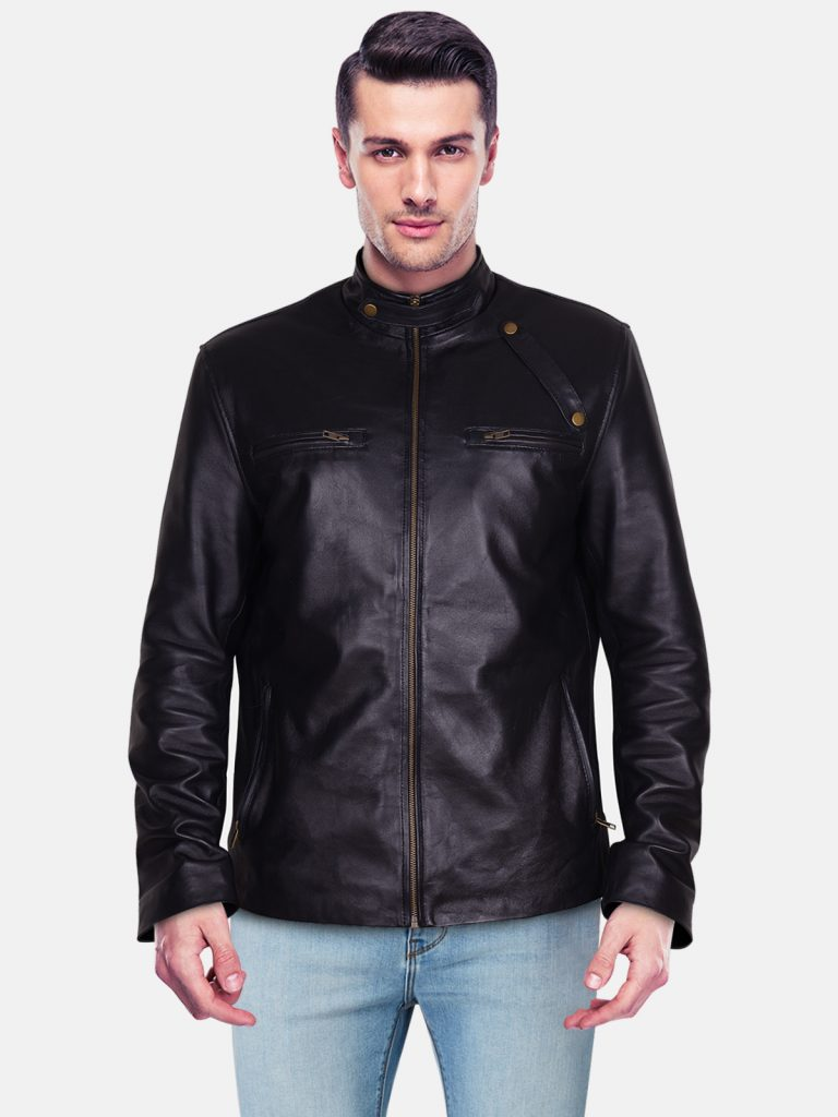 Black Leather Jacket Mens Outfit6