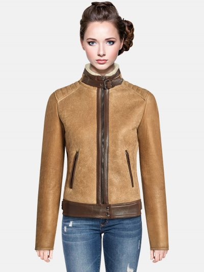 Trendy-Brown-Shearling-jacket