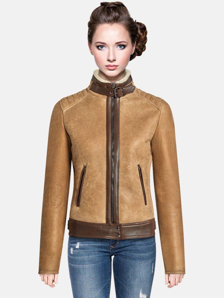 Trendy-Brown-Shearling-jacket