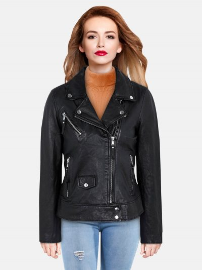Ebony Black Leather Jacket (2)