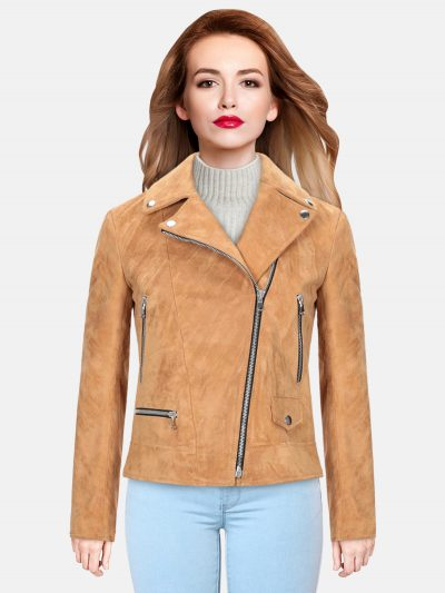 Trendy camel Leather Jacket