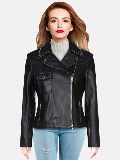 Pitch Black Leather Jacket