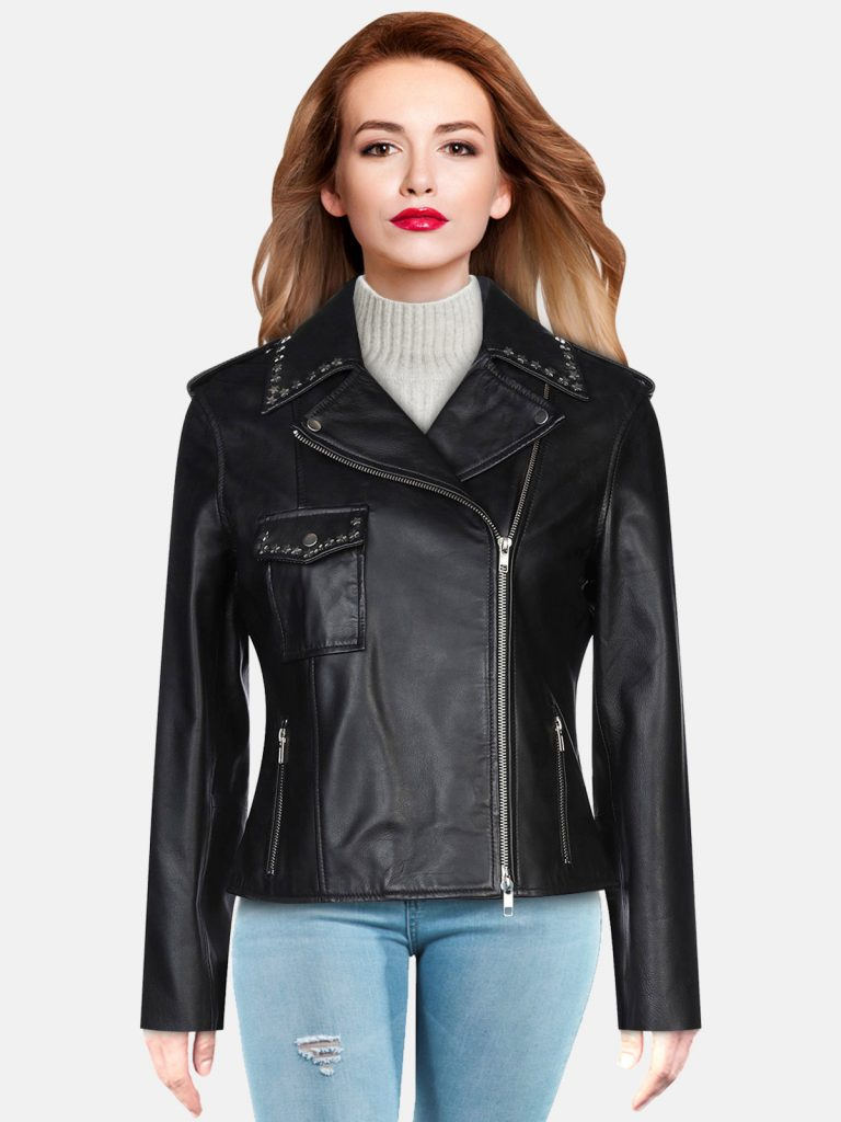 Pitch Black Leather Jacket