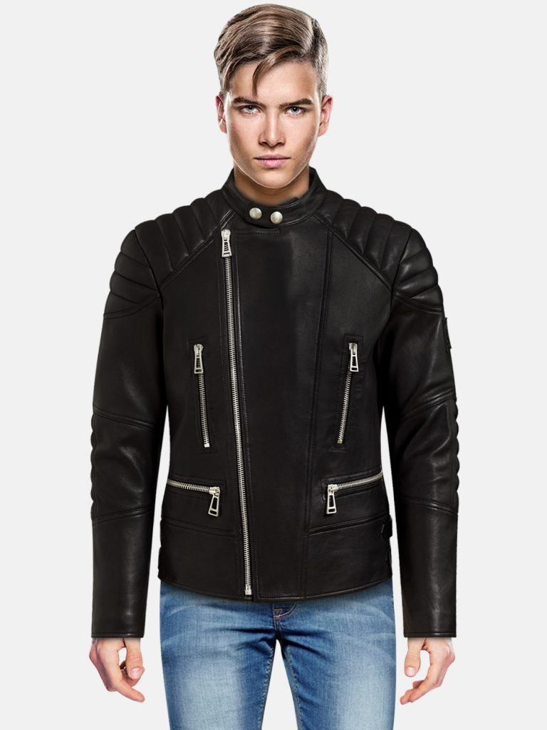 Raven Black Leather Jacket