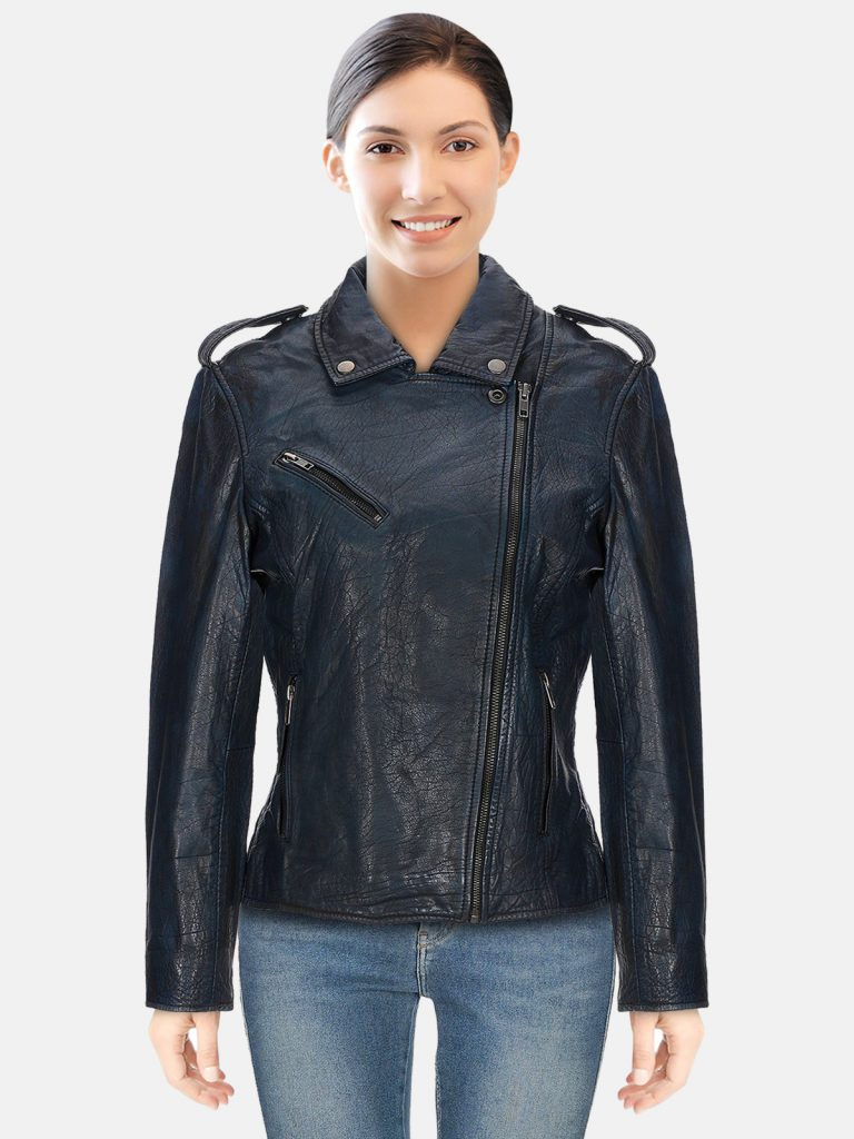 Single Breasted Black Biker Jacket
