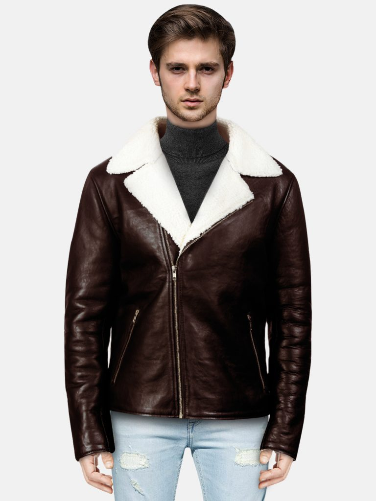 Shearling-Black-Leather-Jacket