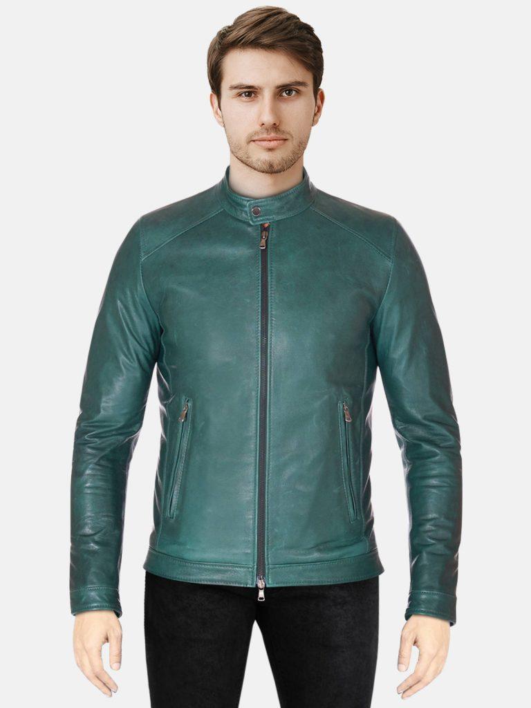 Green Men Trendy Biker jacket