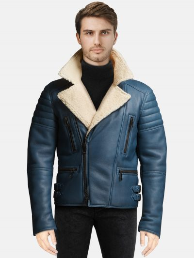 FL Men's Blue Fraser Sherling Jacket