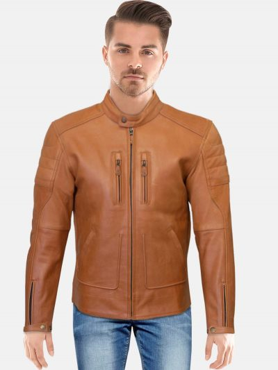 Merlin Draycott Brown Leather Jacket