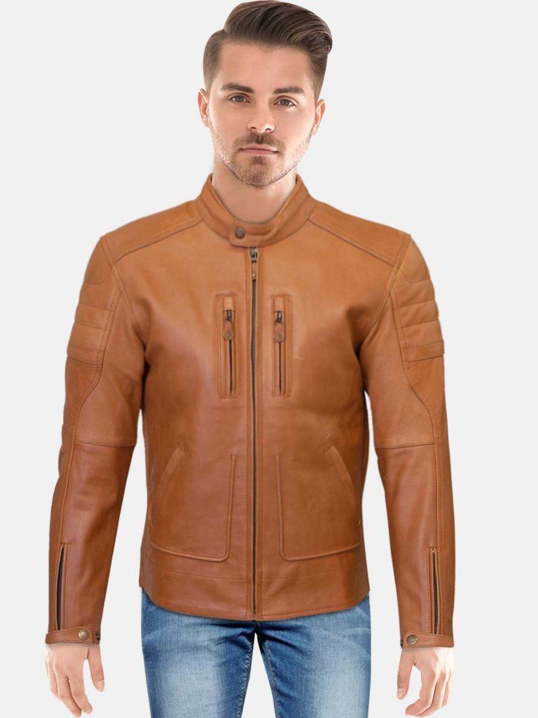 Merlin Draycott Brown Leather Jacket