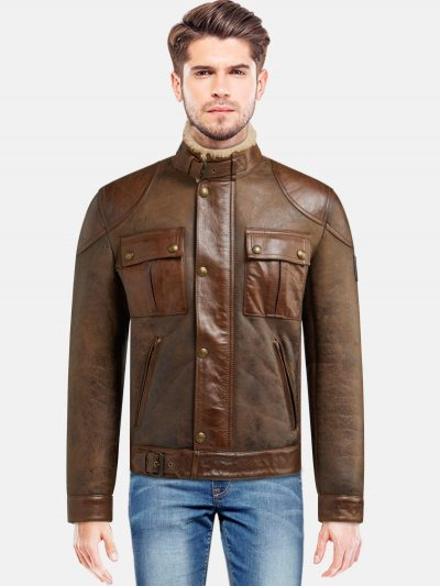 Men's Brown Gangster Jacket