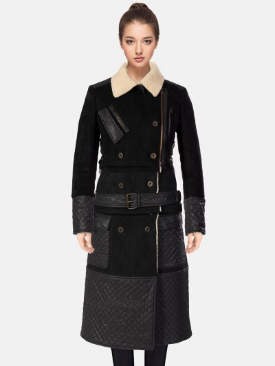 Trendy Women's Shearling Coat