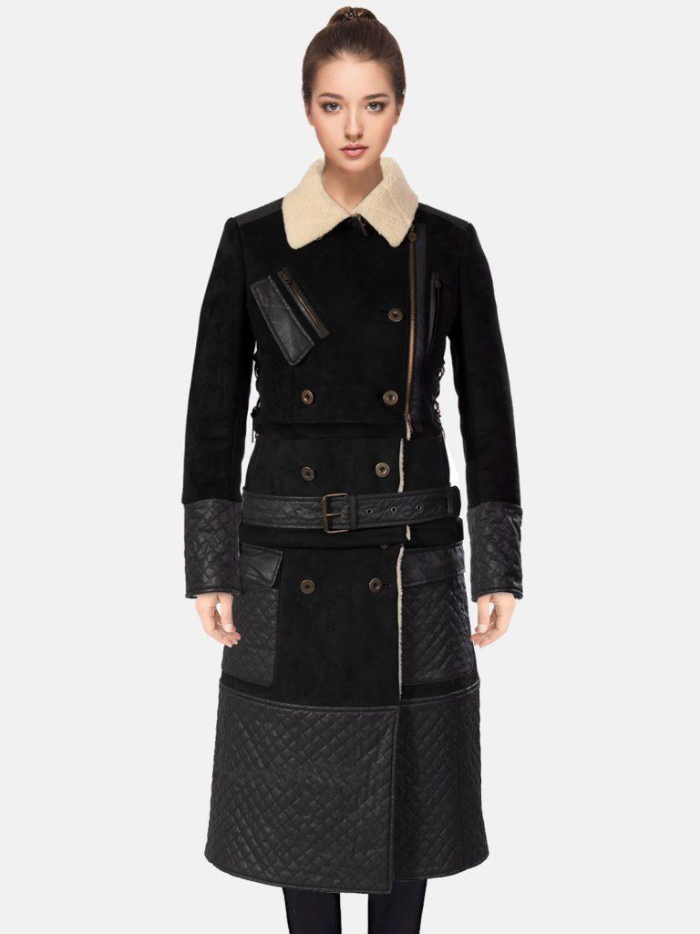 Trendy Women's Shearling Coat