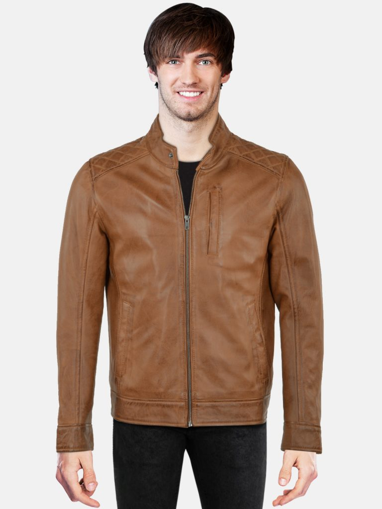 Brown Treandy Leather Jacket for Men