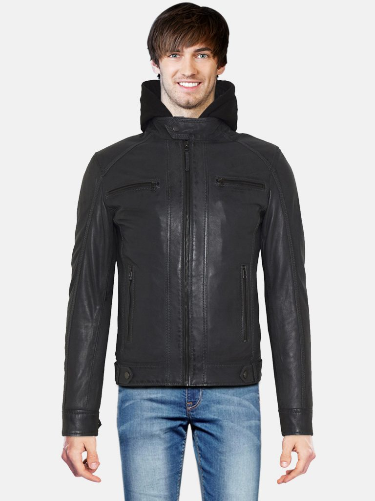 Black Classic Men hooded Style Jacket