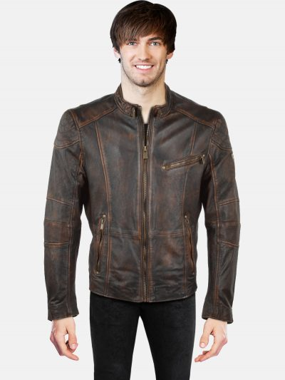Classic Style Biker Leather Jacket