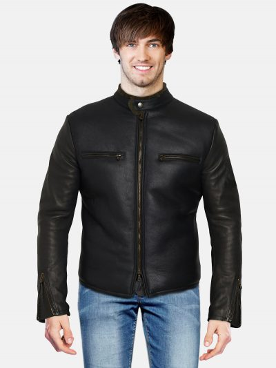 Heavy Motocycle Black Leather Jacket