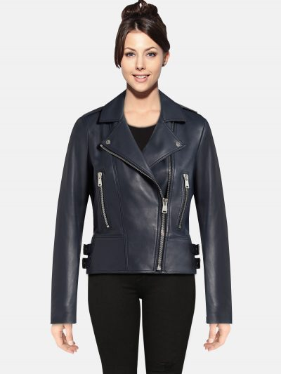 Deep-Navy-women-Leather-Jacket