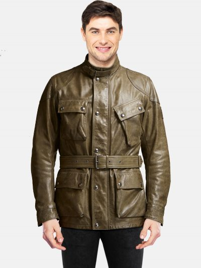Men's Green The Panther Jacket back