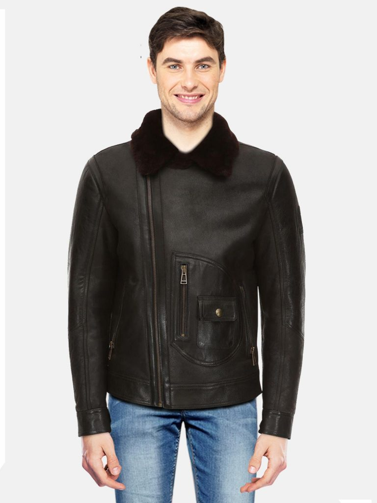 Men's Black New Aviator Shearling
