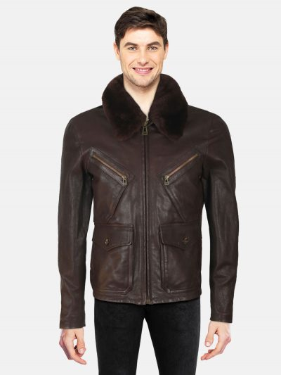 Brown-Conner-Jacket-With-Shearling-Collar-Back