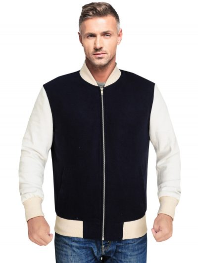 Blue Stylish Fleece Jacket For Men