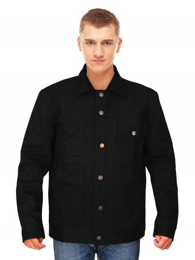 Stylish Black Cotton Jacket