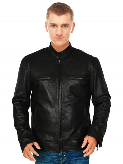 Celebrity-Inspired Black Leather Jacket