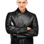 Chic Motorcycle Black Leather Jacket