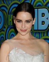 Emilia Clarke Wears Sheer Nearly-Naked Lace Dress to Emmys