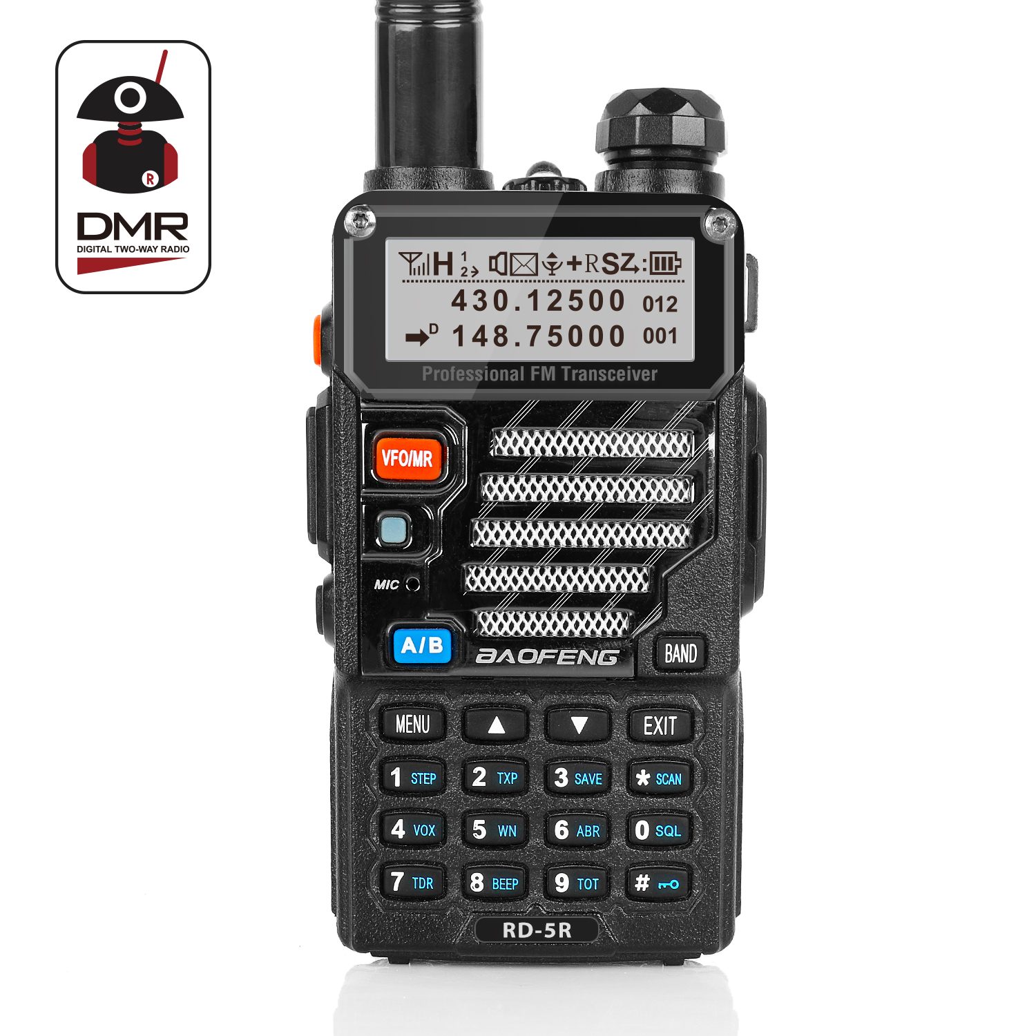 Details about Baofeng RD-5R DMR Dual Band VFO Digital V/UHF Two way Radio  Transceiver US Ship