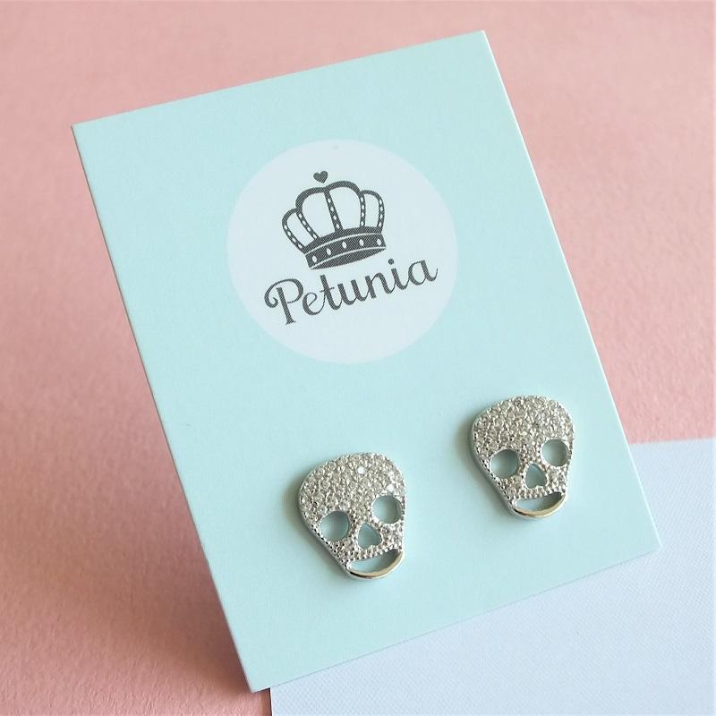 8033c5f52da1 petunia aretes calavera - plata