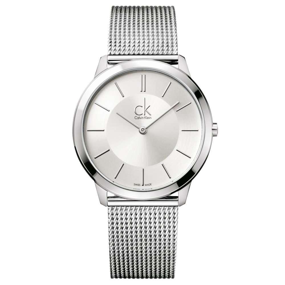Minimal Hombre Reloj Klein Calvin Plata kuOiPZTX