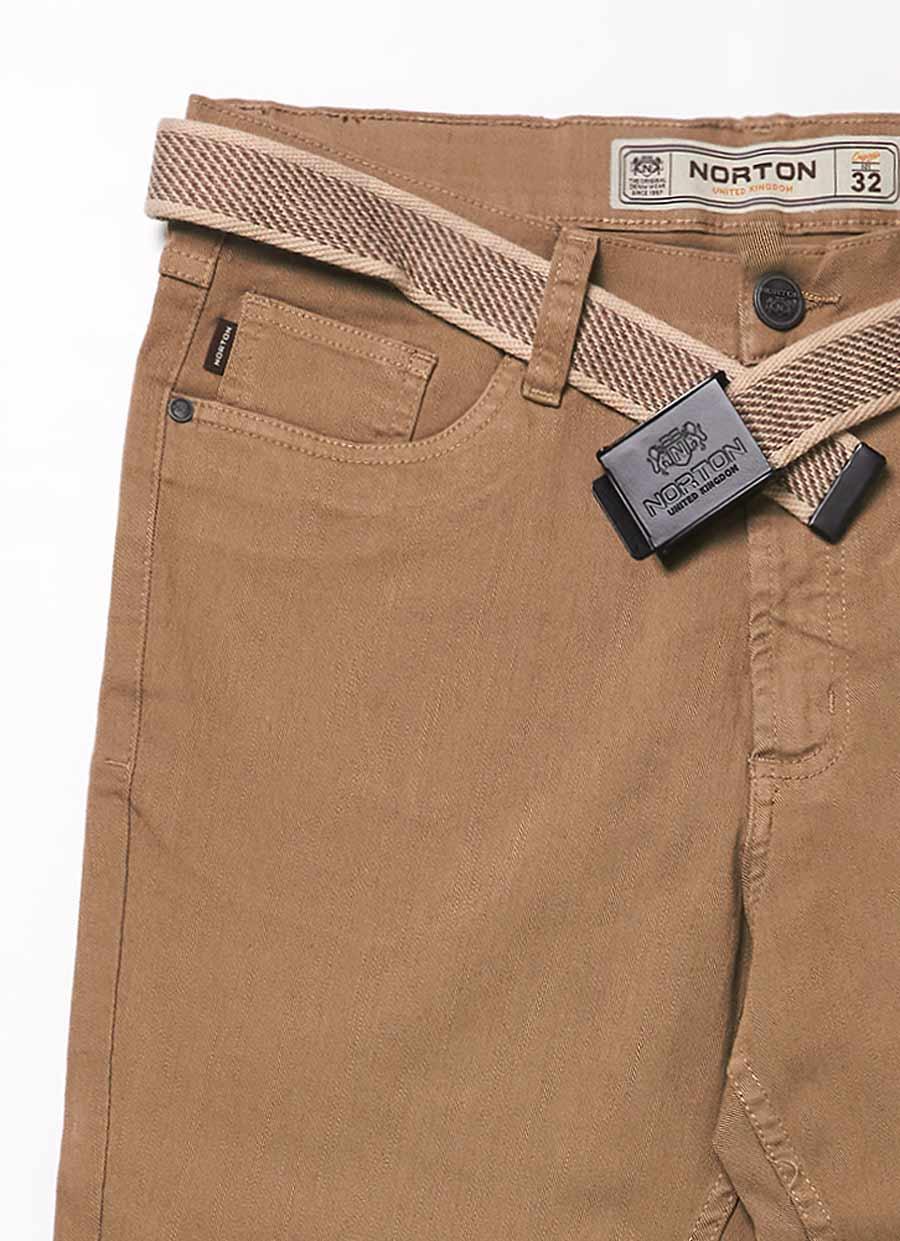 Ripley Norton Pantalon Drill Stretch Semi Pitillo 1061 Beige