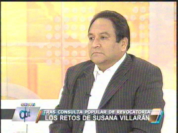 Juan de la Puente: La ganadora de esta revocatoria es Lourdes Flores