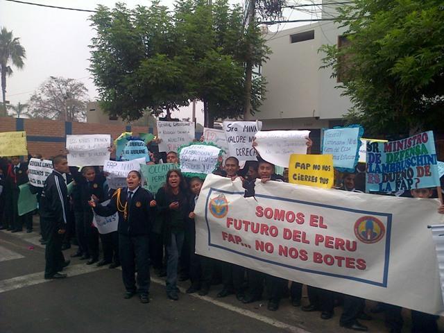 FAP pretende desalojar colegio para construir Centro Ocupacional para oficiales
