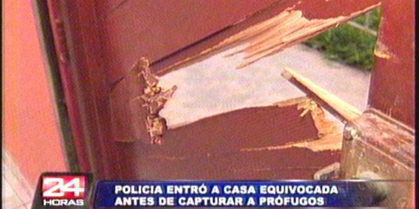 Operativo policial allana por error vivienda de empresario en Comas